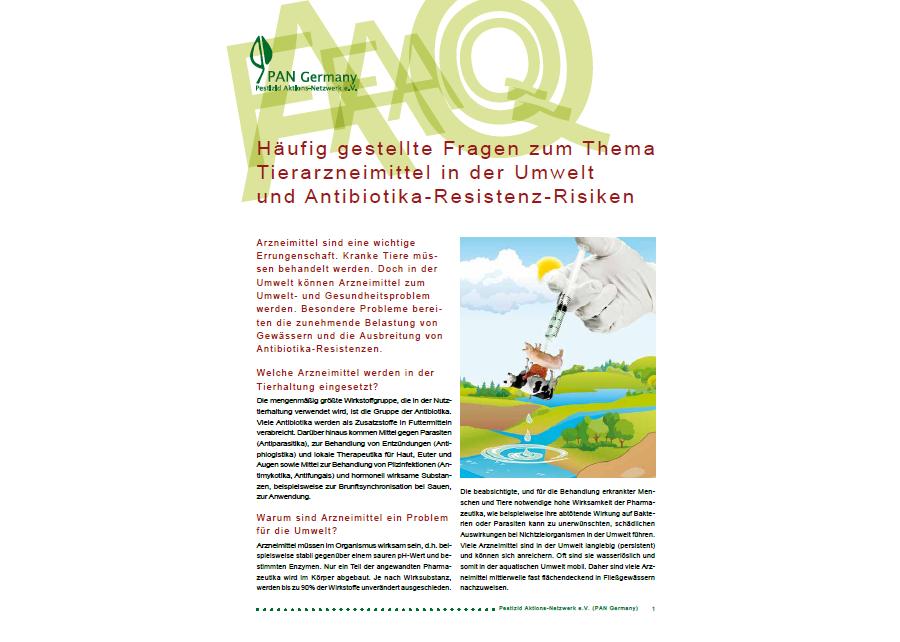 Häufig gestellte Fragen zu Tierarzneimitteln und Antibiotika-Resistenz-Risiken