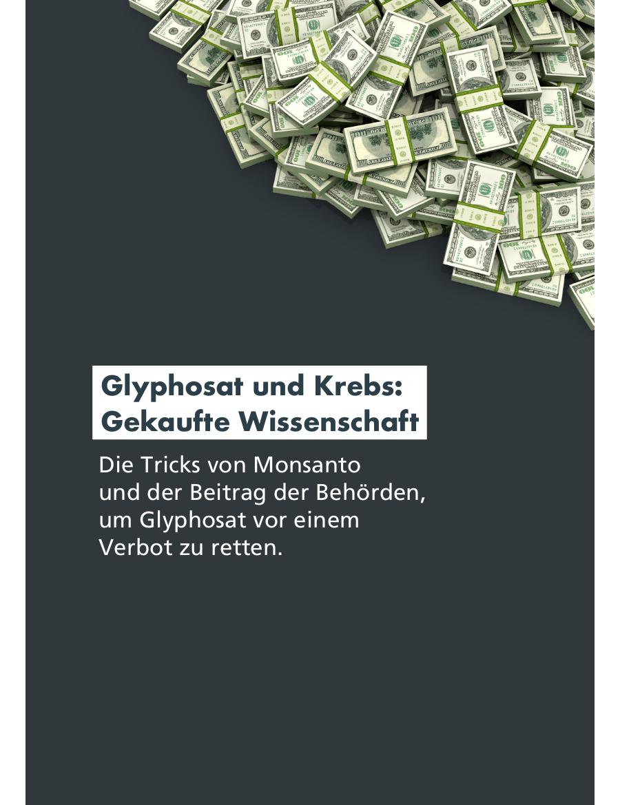 Glyphosat und Krebs: Gekaufte Wissenschaft