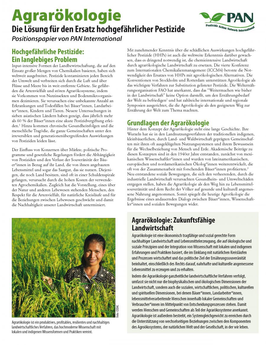 PAN Positionspapier Agrarökologie (DEU)