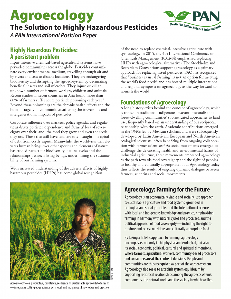 Agroecology - The Solution to Highly Hazardous Pesticides (EN)
