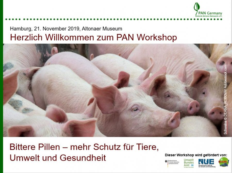 """Dokumentation – PAN Germany Workshop """"Bittere Pillen - Mehr Schutz für Tier, Umwelt und Gesundheit"""""""
