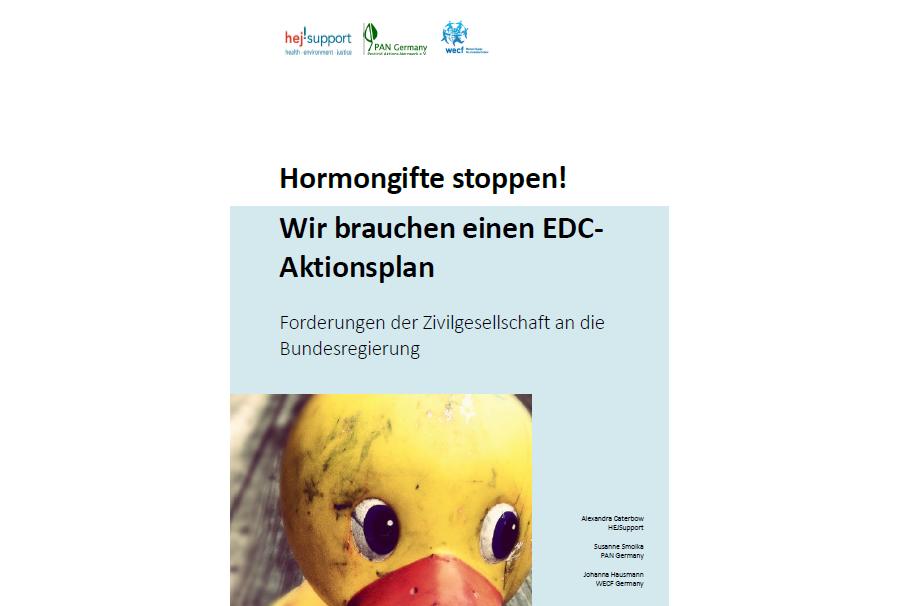 """Publikation: """"Hormongifte stoppen! Wir brauchen einen EDC-Aktionsplan"""""""