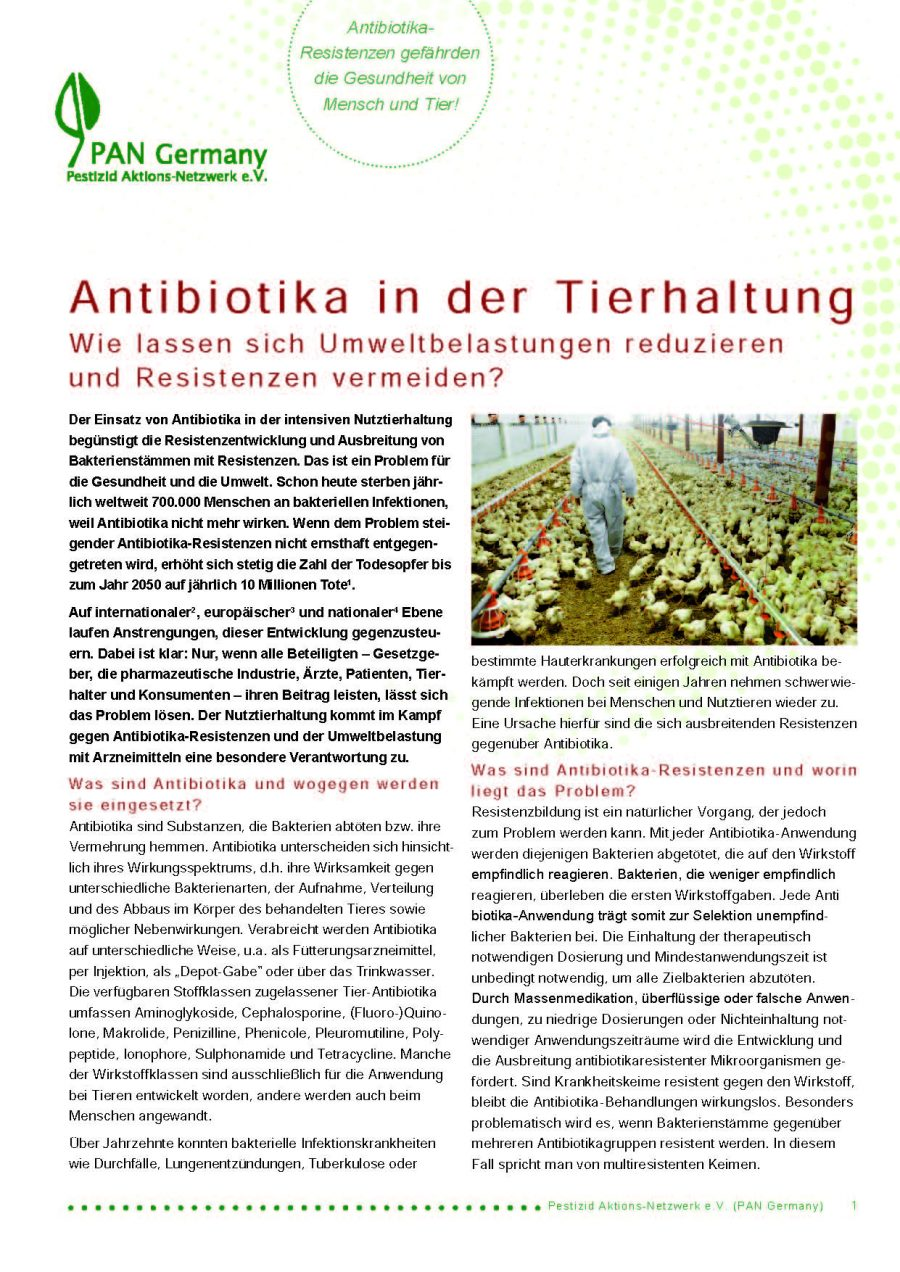 Antibiotika in der Tierhaltung
