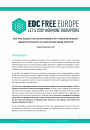 EDC-Free Europe's key recommendations for a reformed European regulatory framework on endocrine disrupting chemicals