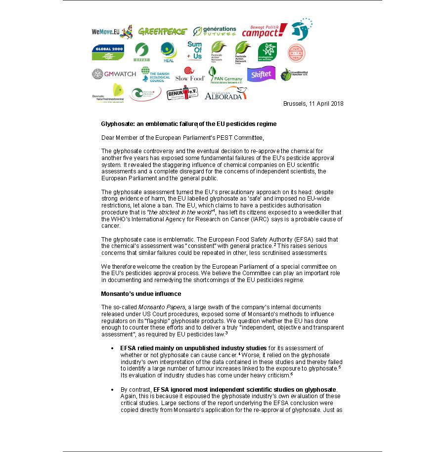 Glyphosate: an emblematic failure of the EU pesticides regime